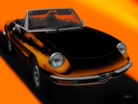 Alfa Romeo Spider Duetto new created by aRi F. in Langenargen