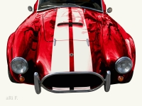 AC Cobra 427 in experimental oldtimer photography