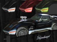 Corvette Stingray Supercharged in Mixed Media car shoots
