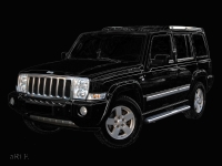 Jeep Commander in black by Oldtimer photography aRi F.